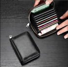 Women Men Wallet Credit Card Holder Genuine Leather RFID Blocking Pocket Purse image