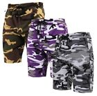 Camo Sweat Shorts US Army Navy USAF Athletic PT Gym Cargo Hunting Hiking