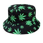 Rasta Kush Cannabis Weed Leaf Bucket Hat Cap Jamaica Reggae one size Fit Braces