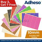 Adheso 10mm Coloured Dot Stickers Round Sticky Dots Adhesive Circles Labels