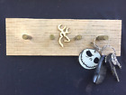 Custom Browning Deer Country Wall Mounted Key Chain Holder w/ 4 Bullet Casings
