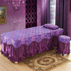 Massage Table Skirt Beauty Bed Valance Sheet Cover with Pillow Sham -75x28""
