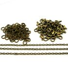 Jewellery Making Findings Antique Bronze Chain, Clasps, Jump Rings SD1