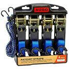 Heavy Duty Ratchet Tie Down Cargo Straps 15 Ft- 500 Lbs Load Capacity, 4 Pack