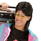 1980s Year Wig with Glasses Mullet Male Wig Rave Assi Chav