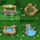 Resin Water Well Pool Miniature Fairy Garden Decor Landscape Craft Accessories