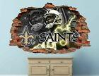 New Orleans Saints Fottball NFL Custom Smashed 3D Wall Decal Sticker Vinyl AH53 on eBay