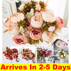 13 Heads Silk Peony Artificial Flowers Peony Wedding Bouquet Home Party Decor