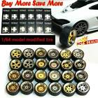 1/64 Scale Alloy Wheels - Custom Hot Wheels, Matchbox,Tomy, Rubber Tires 10g