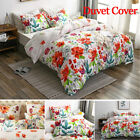 Quilt Polyester Flowers Bedding Set Duvet Cover Home Textile Bedroom Decor image