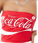 COCA-COLA GRAPHIC TUBE TOP BOOB TUBE TOP RED/WHITE-BNWT $46.36  on eBay