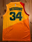 Giannis Antetokounmpo 34 Milwaukee Bucks City Edition Orange Swingman Jersey