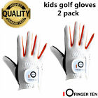 Golf Gloves Kids Rain Grip Value 2 Pack Left Hand Right Lh Rh Gloves 4 Colors AU