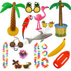 HAWAIIAN SUMMER ACCESSORIES INFLATABLES LUAU HAWAII FANCY DRESS COSTUME PROP LOT
