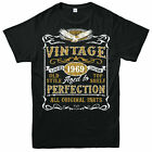 Personalised Made in 1969 Vintage T-shirt, 50TH Birthday Party Age Year Gift Tee