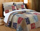 Hyler Patchwork Cotton 3 Piece Reversible Quilt Set, Bedspread, Coverlet image