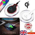 UK QI Wireless Charger Charging Mat Dock for Samsung Galaxy S6 S7 S8 S9 S10 Plus