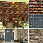 Greek And Roman Home Decor Vintage 3D Wall Paper Brick Stone Rustic Effect Self-adhesive Wall Sticker