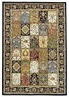 High Quality Traditional Binche Panels Floor Rugs and Runners Navy