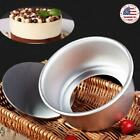 4inch/6inch Cake Pan Removable Bottom Aluminum Alloy Pudding Baking Mold Tool US