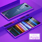 Metal Frame Clear Tempered Glass Case Cover For Sony Xperia 10/10 Plus XA3 Ultra