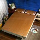 Home Textile Hand Woven Rattan Mat Grid Fitted Sheet Set Summer Cool Bed Cover image
