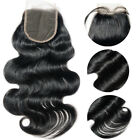 Virgin Brazilian Wave Hair Lace Frontal Closure Free Part with Baby Hair 8-28""