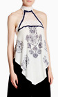 Free People Patterned Linen Mandolin Tank Ivory NWT $88