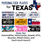 Kyпить Custom TEXAS License Plate Tag Personalized for Auto Car Bicycle ATV Bike Moped на еВаy.соm