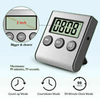 1~2pcs LCD Digital Kitchen Cooking Timer Count-Down Up Loud Alarm Clock Magnetic