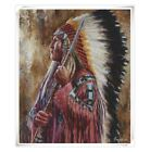 American Indians Handmade Art Oil painting Wall Decor Canvas 24x36 inch #04
