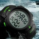 Military Men Sport Digital Date Alarm Large Face LED Wrist Army Watch Waterproof image