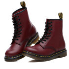 Womens Mens Real Leather Classic Martin Ankle Combat Boots Shoes Flat NEW Style