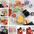 3D Cartoon Disney Earphone Headset Airpods Case Cover For Airpod 1 2 + Ring $7.19  on eBay