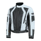 Olympia AIrglide 5 Mesh Textile Ivory Pewter Armor Motorcycle Jacket Size XL 3XL