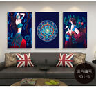 Posters Wall Art Hanging Painting Home Decors Chinese Folk-custom Style Girl