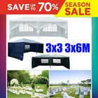 Garden Gazebo Marquee 3x3m 3x6m Party Outdoor Patio Tent Awning Canopy Pavilion