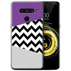 STUFF4 Gel/ TPU Phone Case for LG V50 ThinQ 5G / Purple Fashion