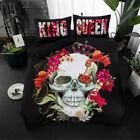 Gothic skull King and Queen bed linens set bedding set with pillowcases new