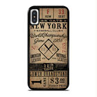 NEW YORK YANKEES VINTAGE TICKET iPhone 5/S/SE/C 6/S 7 8 + X XR XS Max Case Cover