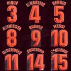 2017-18 Barcelona Player Issue Third Name Set Avery for Shirt Jersey