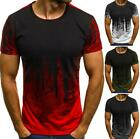 Men's Slim Fit O Neck Casual Short Sleeve Sport Muscle Tees T-shirt Tops Blouse