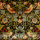 Metric Porcelain Tile William Morris Strawberry Thief (Black 3) Walls Floors