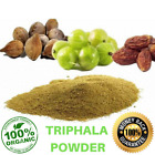 Organic Triphala Powder Amla Haritaki Bhibhitaki Churna Triphla 100% Natural, used for sale  Shipping to South Africa