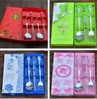 China Blue and White Porcelain Stainless steel Chopsticks Spoon Suits Gifts