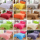 Bedding Flat Sheets Queen Size Bedspreads Fitted Sheet Pillowcase Solid Color image