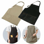Unisex Denim Canvas Pockets Apron Butcher Crafts Baking Chef Kitchen Cooking BBQ