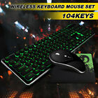 Desktop Computer Gaming Keyboard Mechanical Feel Led Light Backlit Mouse Pad Set