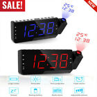 LCD Digital LED Projector Projection Snooze Alarm Clock Radio Timer Backlight RF