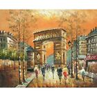Arc de Triomphe in the Evening Paris France Canvas Oil Painting Wall Art